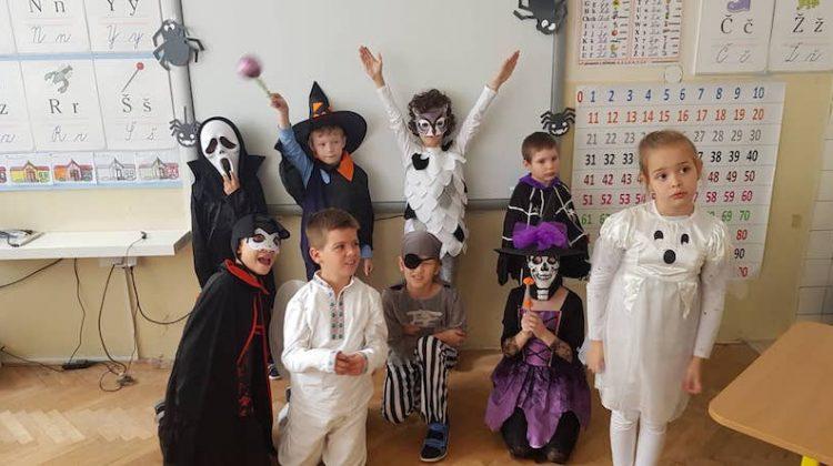 Halloweenske učenie