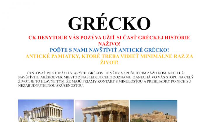 Do Grécka s námorníkmi?